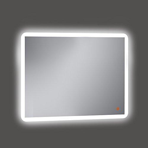 Kristaled Astro Led+ Touch Sensor + antivaho (41x60) 100x80 cm Espejo de Baño con Retroiluminación, Cristal, Plateado, 100x80x3 cm