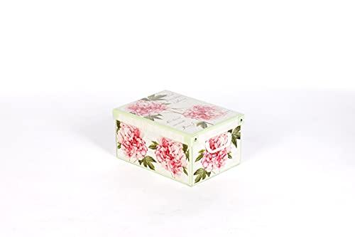 Kanguru Collection Midi Peonies dekorative Aufbewahrungsbox aus Pappe, mehrfarbig, Größe 35 x 25 x 17,5 cm