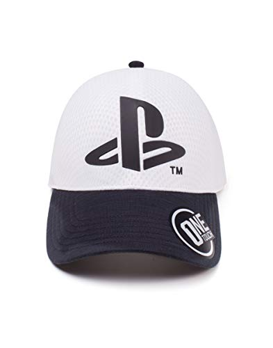 Difuzed Sony Playstation Logo Curved Bill Cap Gorra de bisbol, Blanco (White...