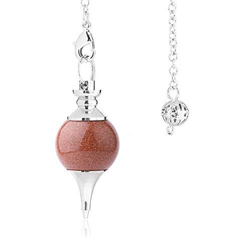 Neil Dekorative Kristall, natürliche Edelstein Kleine runde Korn-Anhänger-Halskette, Rosa Quarz-Achat-Anhänger for Hauptdekoration-Geschenk-Sammlung Persönliche Accessoires Natürlich