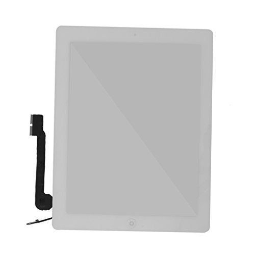 B Baosity LCD Touch Glass Screen Full Replacement For IPad 4 White