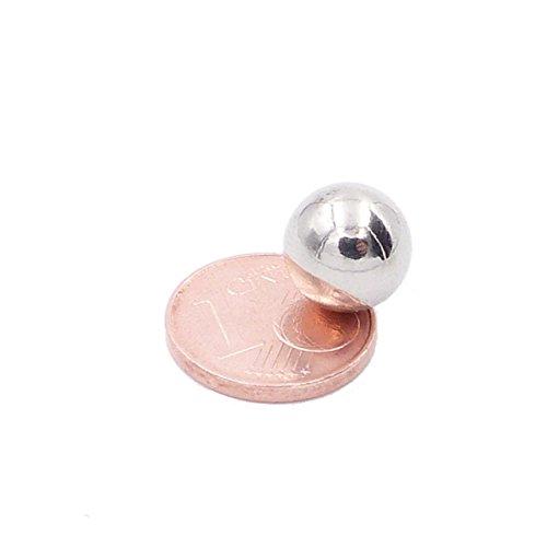 Brudazon   8 Power Kugel-Magnete 10mm   Neodym-Magnete ultrastark   Power-Magnet für Modellbau, Whiteboard, Pinnwand, Basteln   Magnetkugel extra stark