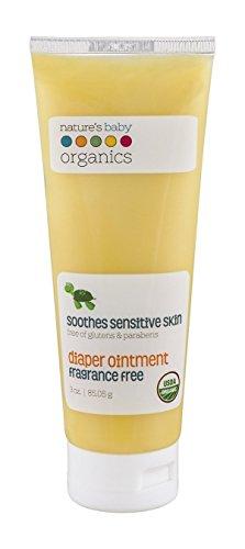 Price comparison product image Nature's Baby Organics Diaper Cream,  Diaper Rash Cream Soothes Sensitive Skin,  95% Organic Diaper Ointment,  1 Pack