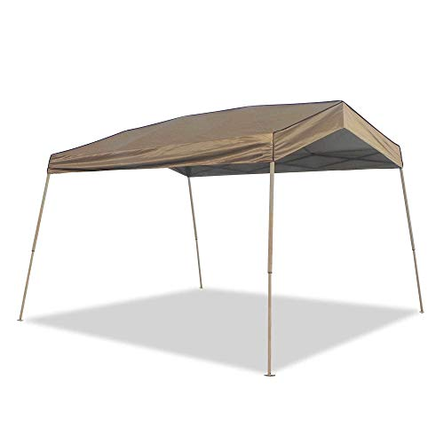 Z-Shade 12 x 14 Foot Panorama Instant Pop Up Canopy Tent Outdoor Shelter Tent with Reliable Stakes, Steel Frame, and Rolling Bag, Tan