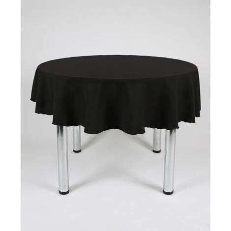 Hope Textiles Black 54' Diameter (137cm) Small Round Fabric TABLECLOTH/TABLE CLOTH (Polyester, not cotton)