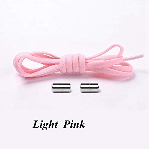 LLAAIT 1 par de cordones elásticos con bloqueo Semicírculo Zapatillas con cordones Zapatillas con cordones Quick No Tie Cordones para niños Zapatos para adultos de encaje 21colors, rosa, Francia