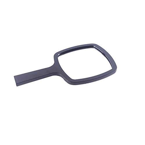Le miroir de verre portatif noir de miroir de poche de grossissement applique le miroir de maquillage, voyage, rasage