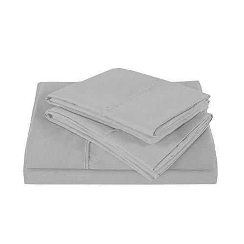 KP Linen RV Camper RV King 72'X80' Bed Sheets Set- 6 Inches Deep Pocket- Sheet for RV –Deep PocketFitted Sheet, Flat Sheet, Pillowcases, Light Grey