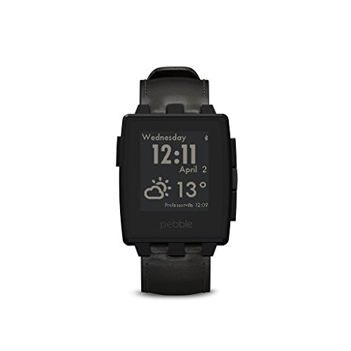 Pebble 401SLR Steel Smart Watch (3,2 cm (1,26 Zoll) E-paper Display inkl. LED Backlight) matte schwarz
