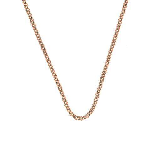 Quoins Halskette Roségold 3,0 mm, Länge: 70 cm