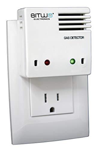 Detector de Gas Alarma Detector de Fugas de Gas LP propano y Gas Natural Detector de Humo | Bitwo Modelo A1