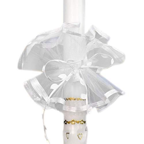 Celebration Kerzenschmuck Tropfschutz KS-004 weiß durchsichtig mit Kelch