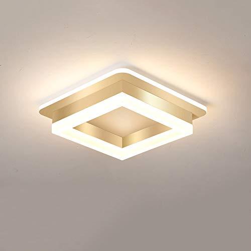 Slreeo Luz de Techo Minimalista Moderna LED Lámparas empotradas ultrafinas 6000K Equipo de iluminación Blanco Pasillo, Dormitorio Lámparas de Ahorro de energía