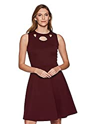 Miss Olive Womens Skater Knee-Long Dress Olive