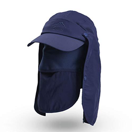Cappellino protettivo cappello da sole protezione UV 360 ° cappello estivo cappello staccabile estivo con cappello protezione collo cappelli da pesca cappello floscio cappello arrampicata uomo donna