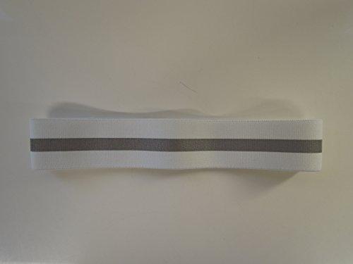 Kleiber Reflective Elastic Strip Headband, White