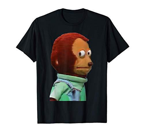 Meme de marioneta de mono de mirada torpe Camiseta
