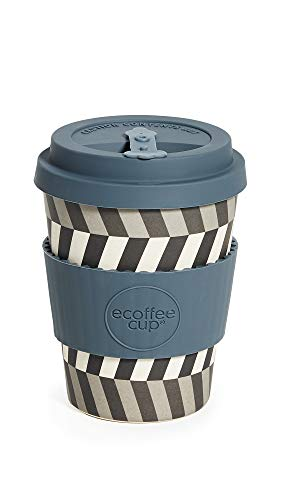 Shopbop @Home Women's 12oz Reusable Coffee Cup, Look Into My Eyes, Print, Blue, Grey, One Size