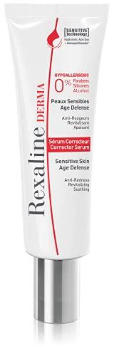 Rexaline - Suero corrector - Piel sensible - Suero facial hidratante - Anti rojeces - Anti edad - Dúo de ácido hialurónico - Cruelty Free - 30 ml