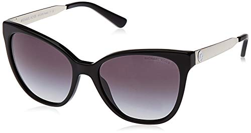Preisvergleich Produktbild Michael Kors Damen NAPA 316311 55 Sonnenbrille,  Black / Lightgreygradient