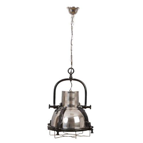 Clayre & Eef 5lmp101lampadario lampada faretto Argento Cromato Nero Ø 49cm E27