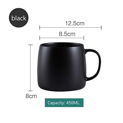MSNLY Taza de Personalidad Simple para Hombres Sra. Taza de té de cerámica asa Estudiantes universitarios Femeninos en Clase Cerámica con Taza de asa, Taza de asa