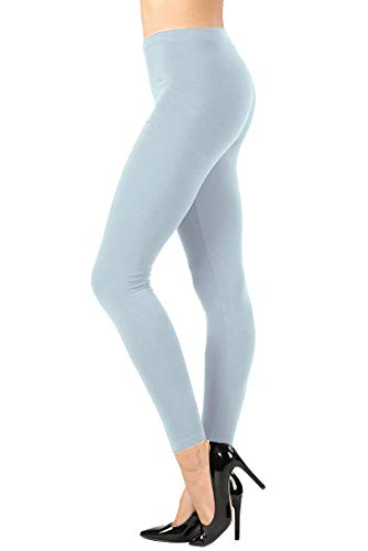 NioBe Clothing Solid Cotton Full Ankle Length Leggings