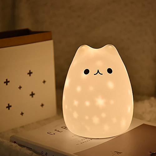 Variedad de luces estelares Luz nocturna de silicona de silicona de carga de la cama de los niños