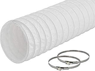 EASYTEC Abluftschlauch Durchmesser 150 mm / 152 mm Länge 3 Meter PVC Schlauch mit 2 Schellen