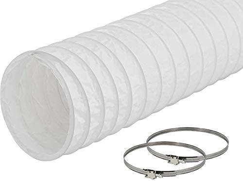 EASYTEC® Abluftschlauch Ø 150 mm / 152 mm Länge 6 Meter PVC Schlauch mit 2 Schellen