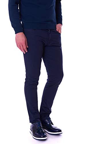 Trussardi Jeans Pantalone Uomo 370 Skinny Ultra Leggero Blu 52J00022 - Blu, 32/46