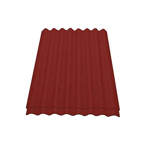 Onduline Easyline Dachplatte Wandplatte Bitumenwellplatten Wellplatte 2x0,76m² - rot