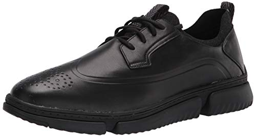 Hush Puppies mens Bennet Wingtip Oxford Sneaker, Black Leather, 13 Wide US