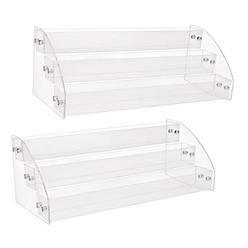 Nail polish holder, Yebeauty 3 Tiers Acrylic Clear Nail Polish Display Rack Stand Holder for Cosmetic & Oils Holder Organizer, pack of 2