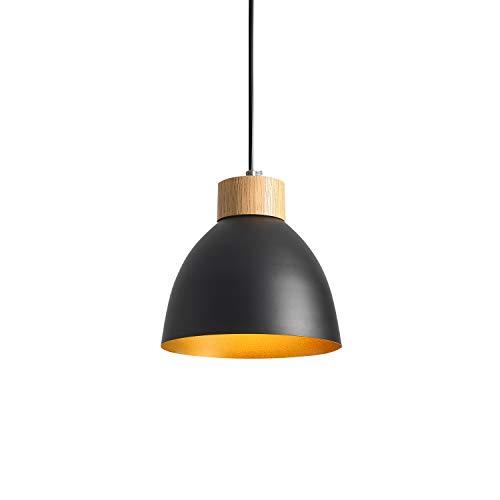 Iluminación colgante vintage,ONLT E27 60W lamparas colgantes Aluminio negras,Lampara Industrial Vintage,Lámpara de Techo Industrial para Cocina Restaurante,lampara techo vintage