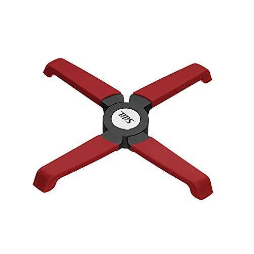 Silit Topfuntersetzer klappbar, 18,2 x 3,6 cm, Kunststoff, magnetisch, platzsparend, Untersetzer für Töpfe und Pfannen, heiße Auflaufformen