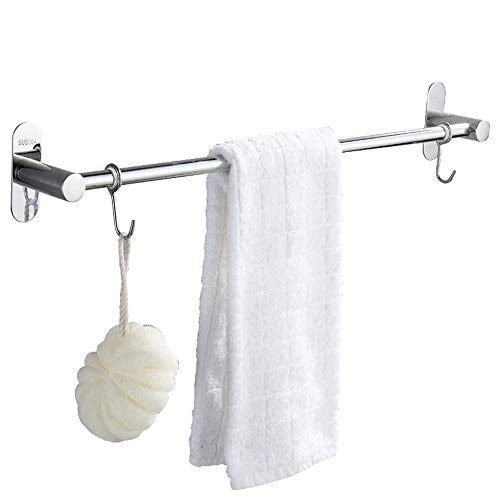 TTms Barra de Toalla de Toalla, sin Punch, Acero Inoxidable 304, riel de Toallas, Ventosa, baño, toallero, 30 cm (Color : 30cm)