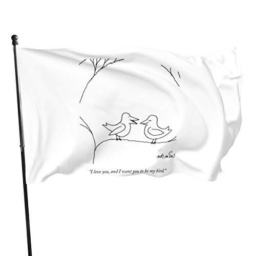 Bandera con texto en inglés