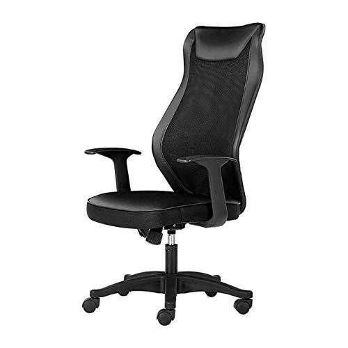 HMBB Sillas de escritorio, sillas de oficina, silla de juegos, silla de conferencia, silla ergonómica de malla para el hogar, silla de oficina, patas de nailon, rotación de 360 °, ajuste de 8 cm