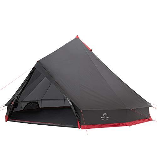 JUSTCAMP Bell 12 Tipi Zelt für Gruppen, Familien oder Camping bis zu 12 Personen