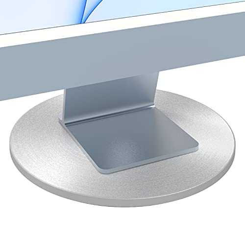 Just Mobile Aludisc Piedistallo Rotante 360° per Apple iMac Thunderbolt Display, Argento