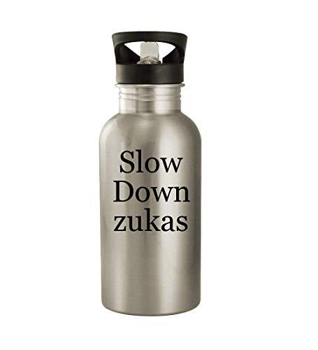 Slow Down zukas - 20oz Stainless Steel Water Bottle, Silver