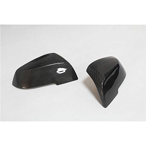 HanT Accesorios de la carcasa del espejo retrovisor del coche Cubierta del espejo lateral de fibra de carbono, para BMW 1 2 3 4 Serie X F20F21 F22 F30 F31 F35 GT F34 F32 F33 F36 E84