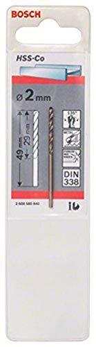Bosch 2 608 585 840 - Brocas metálicas HSS-Co, DIN 338 (2 x 29 x 49 mm)