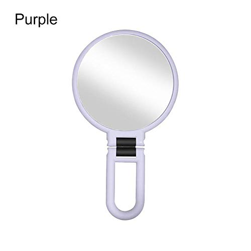 AJIHFD dubbelzijdig opvouwbare cosmetische spiegel vergrotende make-up spiegel met niet uitgerust draagbare snoep kleur make-up spiegel 10X 15X