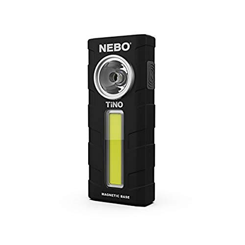 NEBO NB6809 Lámpara de trabajo LED/COB, Negro, 300 Lumen, 3 AAA Alkaline