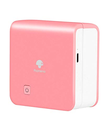 Mini Pocket Printer - M02Pro Thermal Bluetooth Printer Compatible with iOS & Android, Portable Wireless Cpnnection Sticker Printer for Document, Retro Photo, Travel - Hot Pink