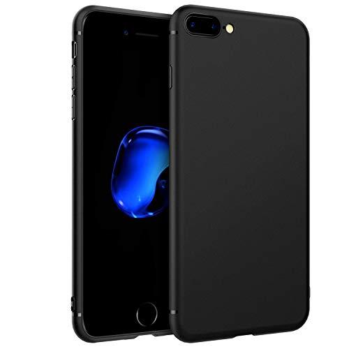 Custodia per iPhone 8 Plus iPhone 7 Plus, EasyAcc Morbido TPU Cover Slim Anti Scivolo Protezione Posteriore Case Antiurto Compatibile con iPhone 8 Plus iPhone 7 Plus - Nero