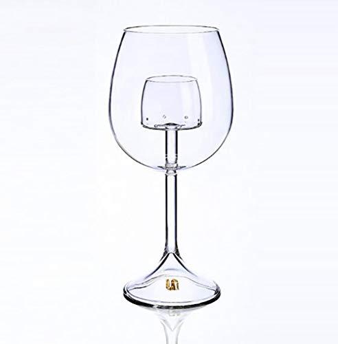 ZHSB ZXY wijnglas met platte voet, set voor snelle analyse, van borosilicaatglas