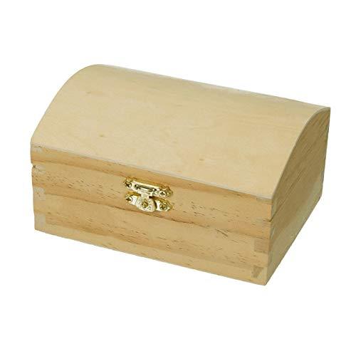 Efco houten kist van grenenhout met sluiting, afmetingen: 13 x 9,5 cm, personaliseerbaar